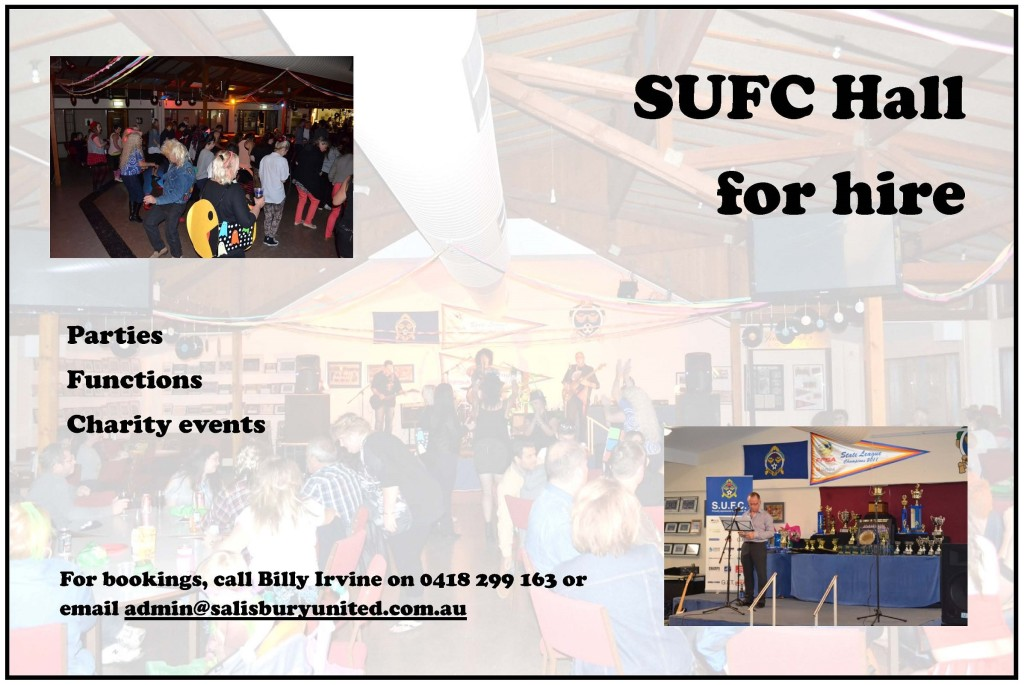 Salisbury United hall for hire