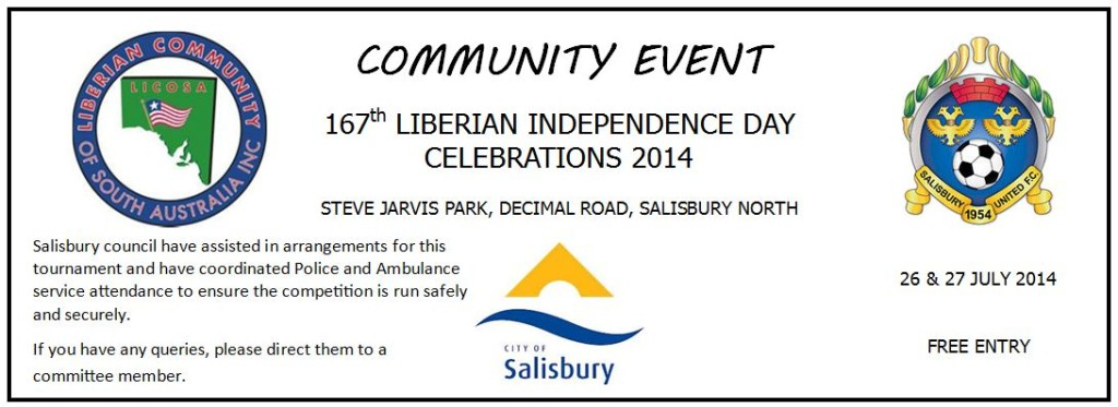 Salisbury United Liberian Independence Day event
