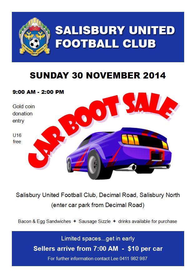 Salisbury United Car Boot Sale